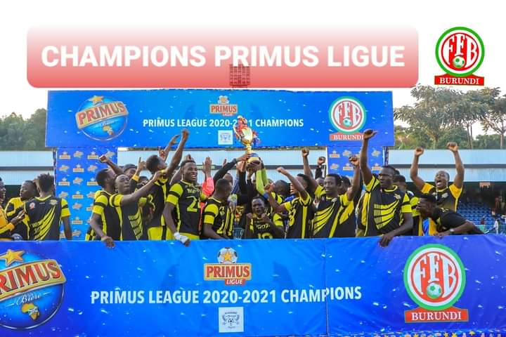 BURUNDI : MESSAGER NGOZI ,  Champion PRIMUS LEAGUE 2020-2021