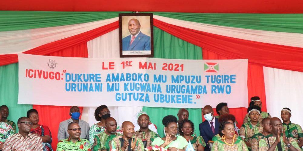 BURUNDI : Le Président de l'Assemblée Nationale à la fête du Travail à GITEGA