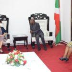 Le Président de l'AN reçoit en audience la nouvelle ambassadrice de Chine au Burundi