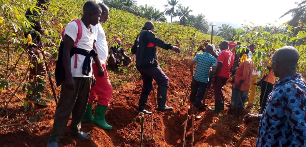 BURUNDI : TRAVAUX DE DEVELOPPEMENT COMMUNAUTAIRE – Tracer des courbes de niveau à BUTAVUKA, RUGAZI / BUBANZA