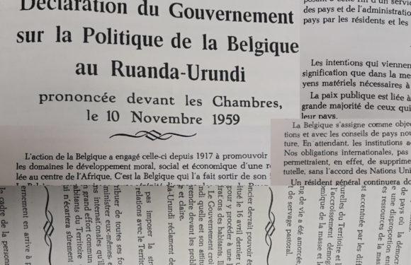 BURUNDI : Déclarée le 10 novembre 1959 par LA BELGIQUE sur LE RUANDA-URUNDI
