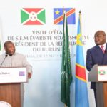 BURUNDI / RDC CONGO : Rencontre fraternelle entre les deux CHEFS D'ETAT