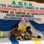 BURUNDI - SOCIETE CIVILE : L' ASFK fête ses 10 ans à KANYOSHA / BUJUMBURA