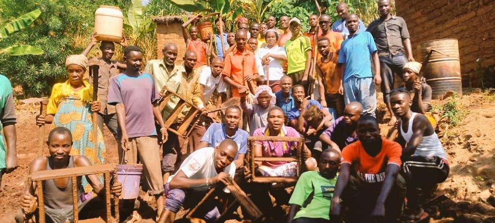 BURUNDI : TRAVAUX DE DEVELOPPEMENT COMMUNAUTAIRE – Construction d'une maison pour une veuve à MUHUTA / RUMONGE