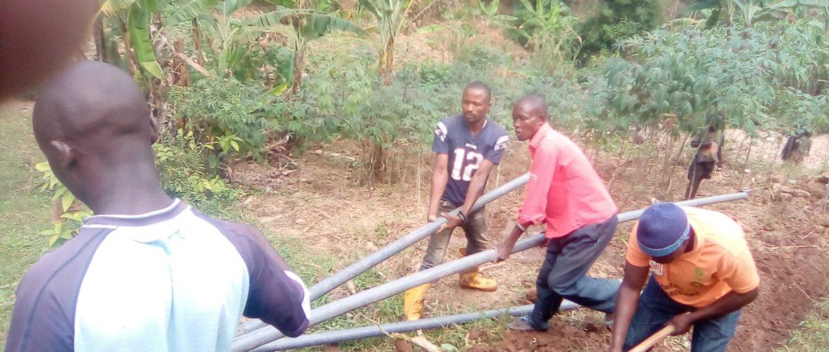 BURUNDI : TRAVAUX DE DEVELOPPEMENT COMMUNAUTAIRE – Aménager une ligne d'eau potable à MUSIGATI / BUBANZA