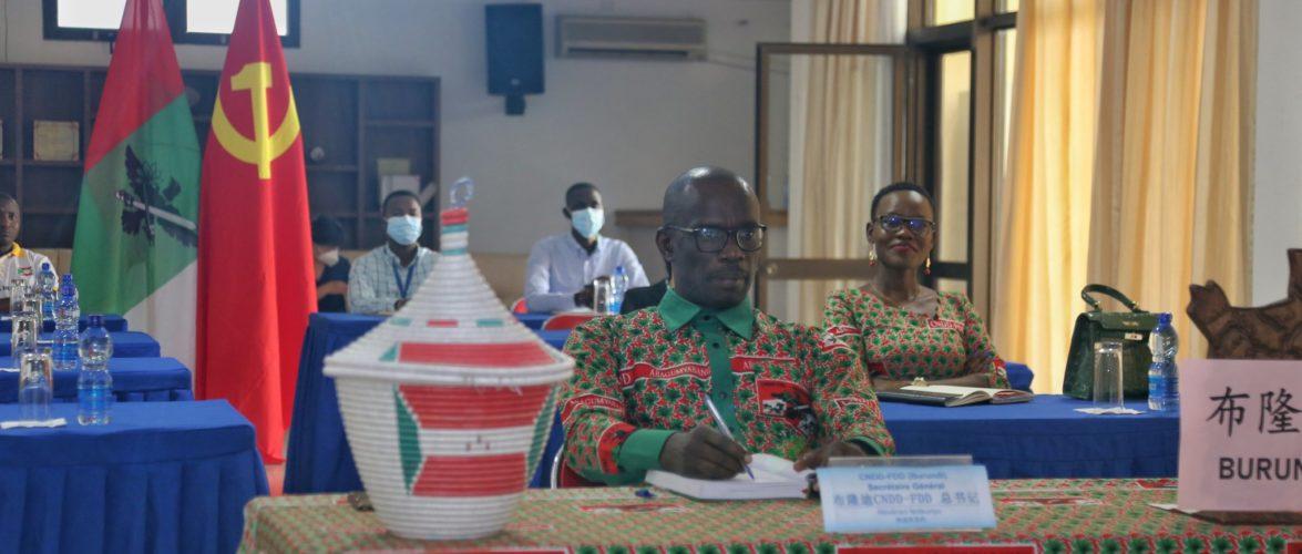 BURUNDI / CHINE : Le CNDD-FDD participe au Sommet du PCC qui a 100 ans