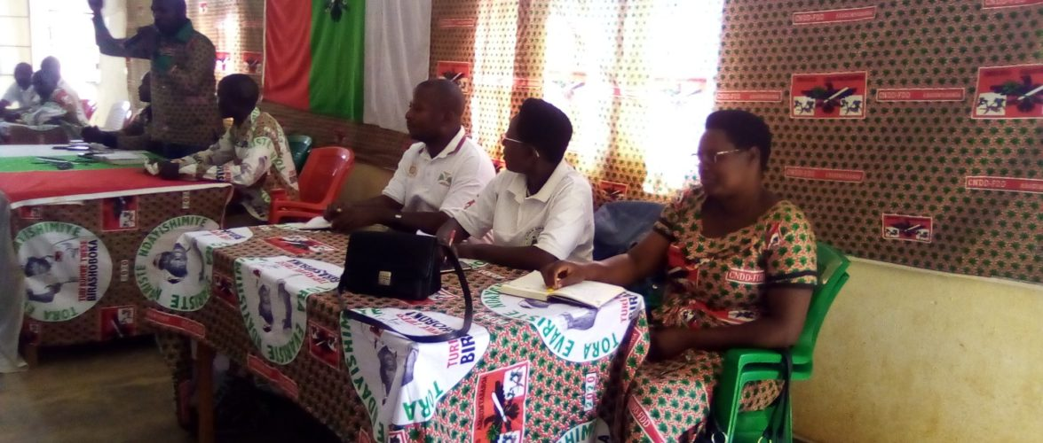 BURUNDI : La nouvelle équipe du CNDD-FDD CANKUZO se met au travail
