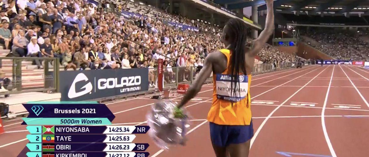 BURUNDI : NIYONSABA remporte le 5.000 mF de l' Allianz Memorial Van Damme / BRUXELLES