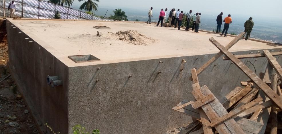 BURUNDI : Visite du chantier d'adduction d'eau à RUGAZI / BUBANZA