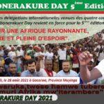 BURUNDI : Journée - IMBONERAKURE DAY - 2021 à GASORWE, le 28-08-2021 / MUYINGA