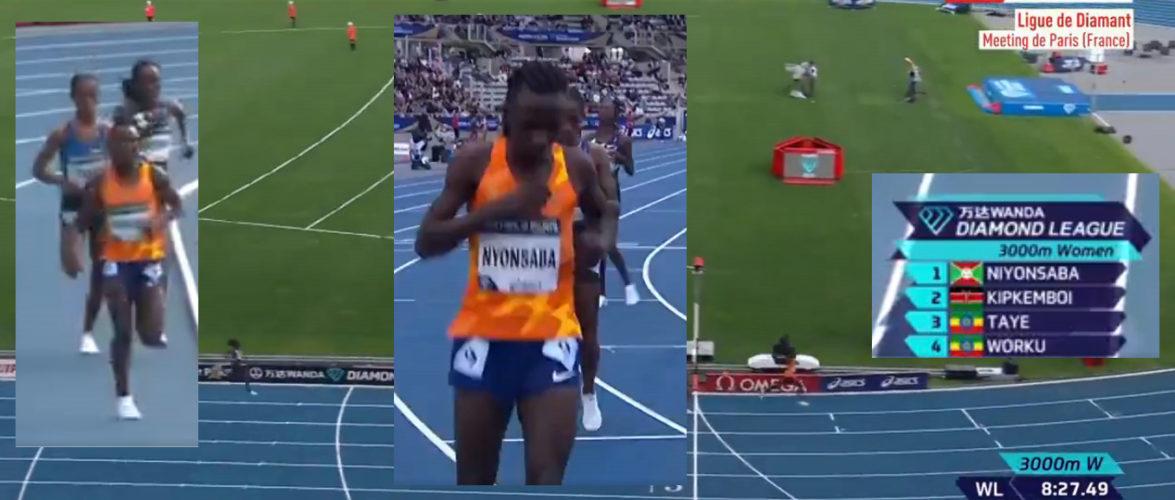 "BURUNDI : – Notre NIYONSABA Francine s'impose au 3000 mF du Meeting de Paris en 8'19""08"