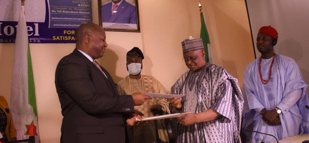 BURUNDI / NIGERIA : Signature de 2 Memoranda d'Entente