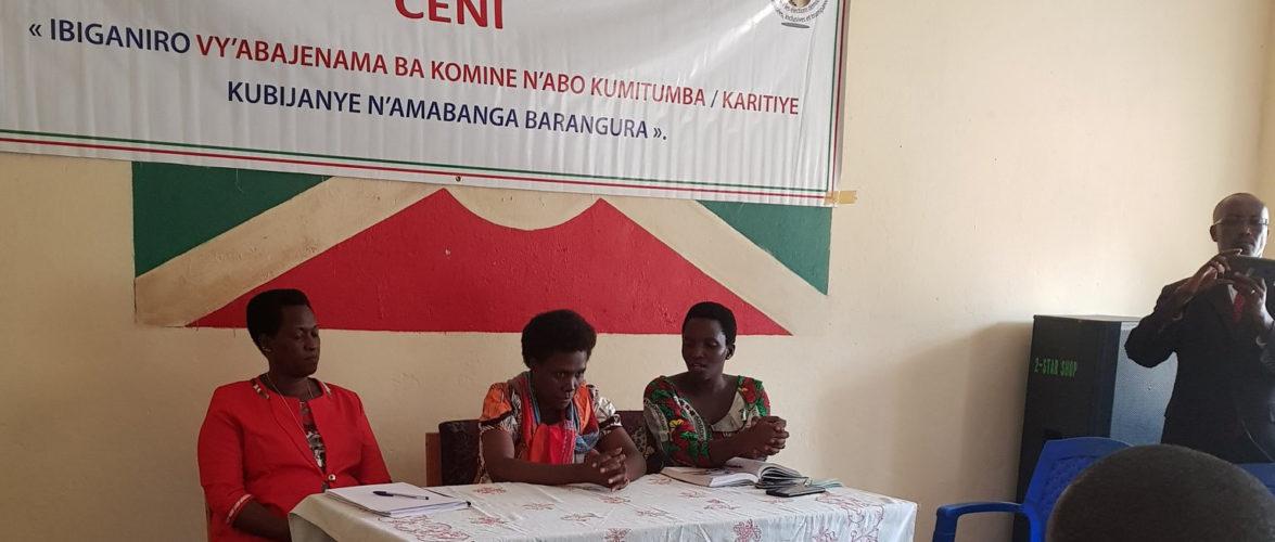BURUNDI : LA CENI sensibilise LA COMMUNE BWERU / RUYIGI