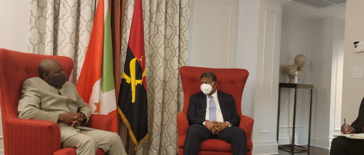 BURUNDI / UNGA76 2021 : S.E. NDAYISHIMIYE rencontre S.E. JOAO Lourenço, Président d'ANGOLA