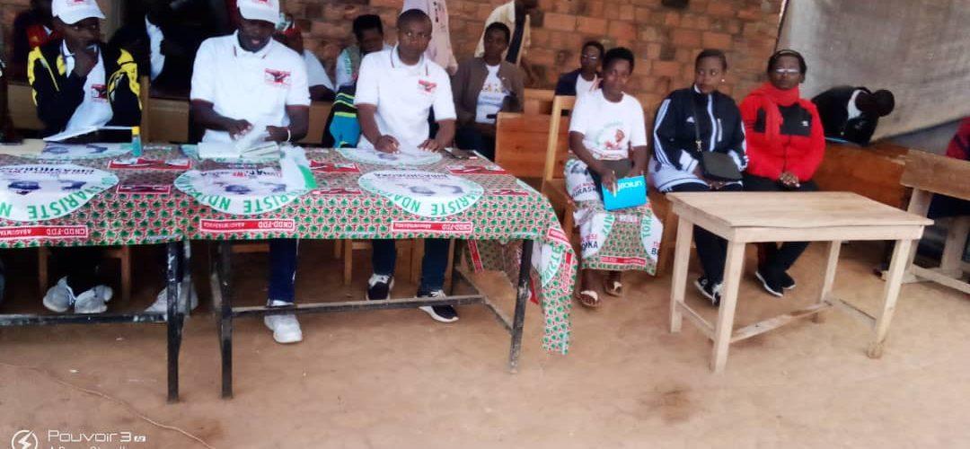 BURUNDI : Rencontre du CNDD-FDD BURAMBI / RUMONGE