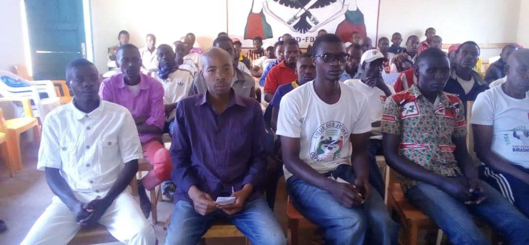 BURUNDI : Réunion des BAGUMYABANGA et des IMBONERAKURE de NDAVA / MWARO