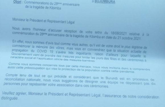 BURUNDI : AC GENOCIDE CIRIMOSO commémore KIBIMBA le 21 octobre 2021