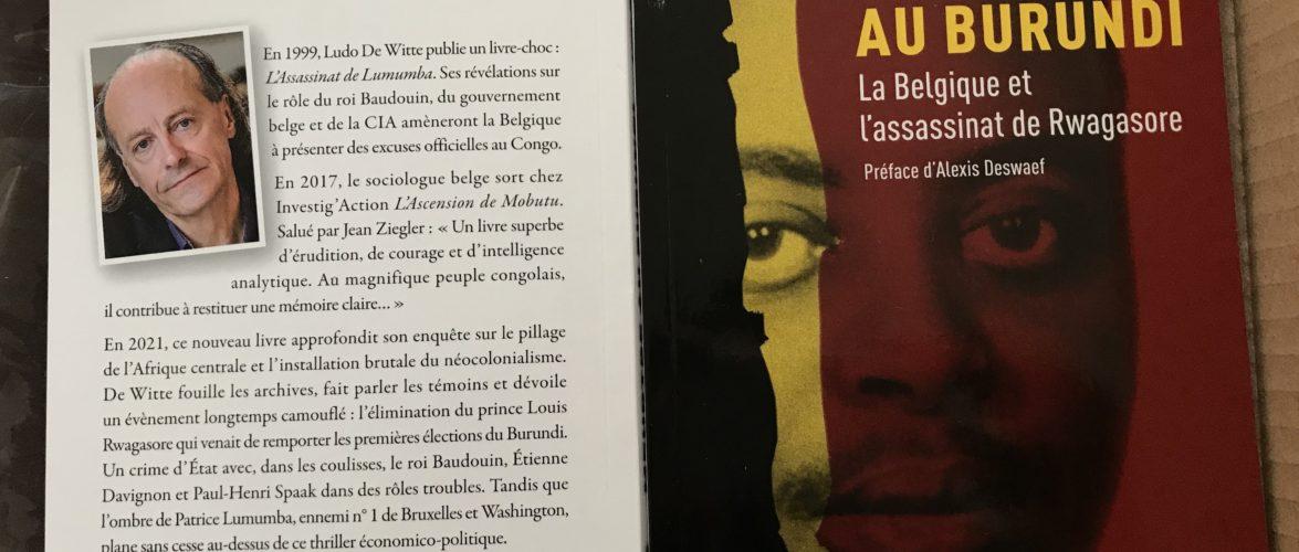 BURUNDI / BELGIQUE  :  Ludo De Witte écrit sur l'assassinat de Feu RWAGASORE