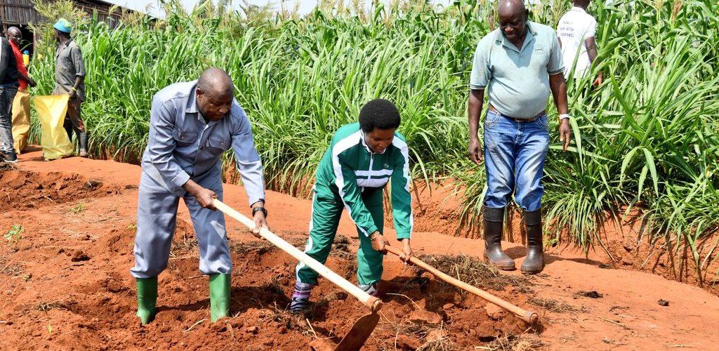 BURUNDI : Travail de champ pour la famille Présidentielle à BUGENDANA / GITEGA