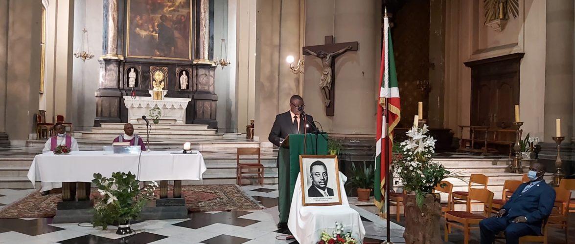 BURUNDI  : Une messe en BELGIQUE en mémoire du Héros Feu Muganwa RWAGASORE Louis tué le 13-10-1961