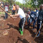 BURUNDI : TRAVAUX DE DEVELOPPEMENT COMMUNAUTAIRE - Tracer des courbes de niveaux à NKONYOVU / MURAMVYA